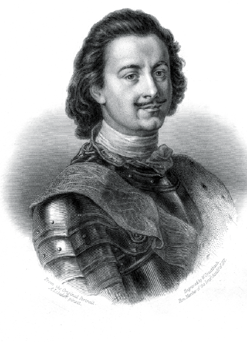 Петр Великий, одетый