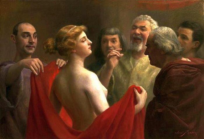 Как красивая грудь спасла от казни греческую гетеру.